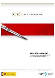 cvn - albert pla planas - Departament d'Electrònica, Informàtica i ...