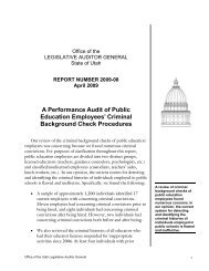 A Performance Audit of Public Education Employees - Utah State ...