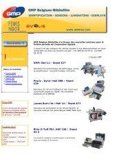 des nouvelles solutions pour la finition parfaite de l ... - GMP Belgium