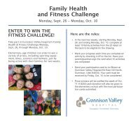 Family Health and Fitness Challenge - Gunnison Valley Hospital