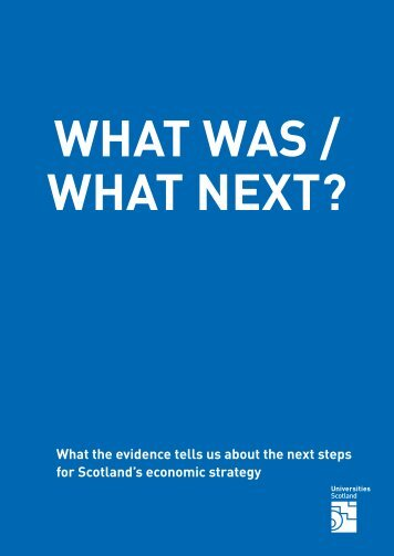 What next - Universities Scotland