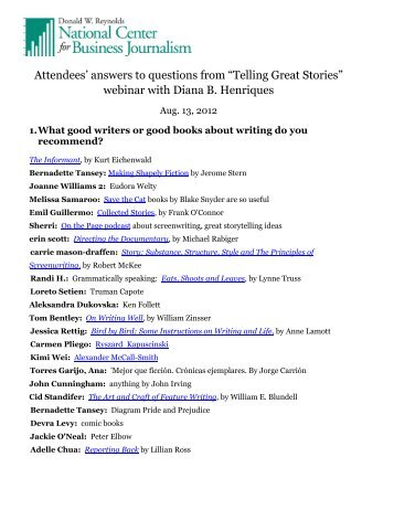 Suggested Writers, Books and Archetypal Stories