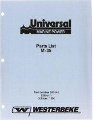 Parts List M-35 - Westerbeke