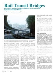 Rail Transit Bridges - Aspire - The Concrete Bridge Magazine