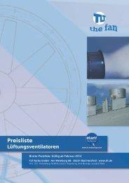 Inhaltsverzeichnis - Lüftungs-Ventilatoren