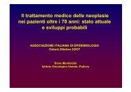 Il trattamento medico delle neoplasie Il trattamento medico delle ...