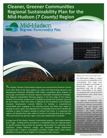 Regional Sustainability Plan - Orange County, NY