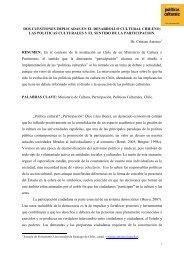 LAS POLITICAS CULTURALES Y EL SENTIDO DE ... - Cultura Digital