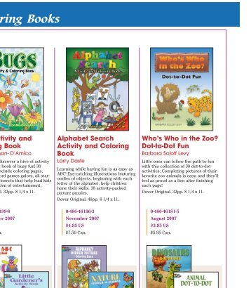 Coloring Books - Dover Publications