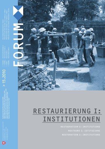 RestauRieRung i: institutionen - Bevölkerungsschutz