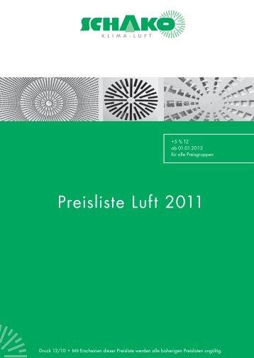 Schako Preisliste Luft 2011