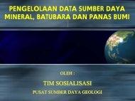 pengelolaan data sumber daya mineral, batubara dan panas