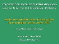 Consulta la presentazione dei dati - EpiCentro - Istituto Superiore di ...