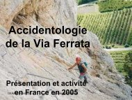 Accidents et via Ferrata