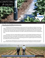 Issue XLII - Texas Alliance For Water Conservation - Department of ...