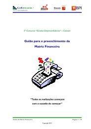 Guião para o preenchimento da Matriz Financeira - DNA Cascais