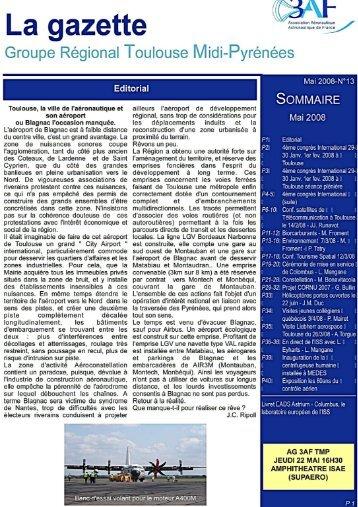 Télécharger la Gazette n°13 en pdf - 3AF Toulouse Midi-Pyrénées
