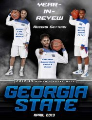 Year In Review Game Notes - Georgia State University Athletics