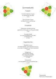 Sommerkarte 2012 - Landhotel Kern