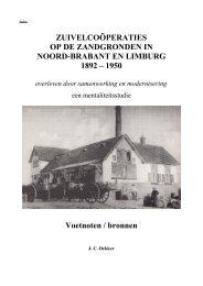 Proefschrift J. C. Dekker noten - Zuivelhistorie Nederland
