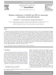 Optimal combination of InSAR and GPS for measuring interseismic ...