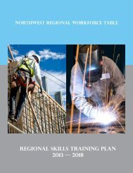 Regional skills training plan 2013 — 2018 - Northwest Community ...