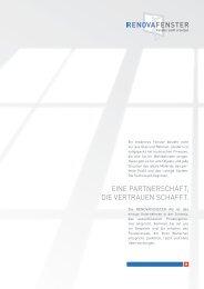 EINE PARTNERScHAFT, DIE VERTRAUEN ScHAFFT. - renovafenster