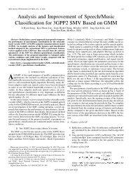 Analysis and Improvement of Speech/Music ... - IEEE Xplore