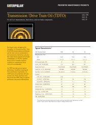 Transmission/Drive Train Oil (TDTO)—PEHP7506-07 - Toromont CAT