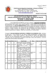 Ata de RP 055/2013 - Maringá - Estado do Paraná