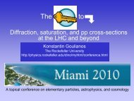 MIAMI 2010, A topical conference on elementary particles ...