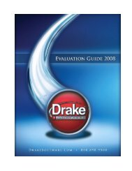 Drake Software Evaluation Guide