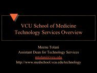 VCU School of Medicine Technology Services Overview