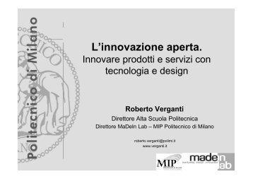 L'innovazione aperta. Innovare prodotti e servizi con ... - Confindustria