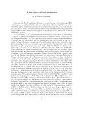 A short history of Polish mathematics by W. ˙Zelazko (Warszawa) In ...