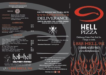 View Menu - Hell Pizza