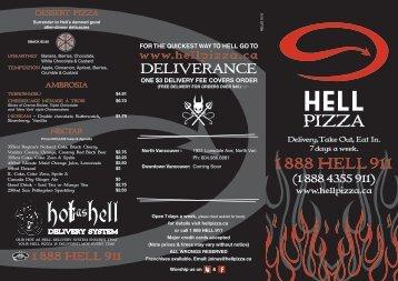 View Menu - Hell Pizza