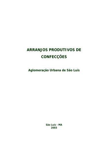 ARRANJOS PRODUTIVOS DE CONFECÇÕES