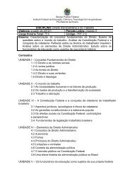 Conteúdos UNIDADE I – Conceitos Fundamentais do Direito 1.1 O ...