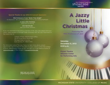 A Jazzy Little Christmas A Jazzy Little Christmas - MSU College of ...