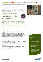 Provtagning – utsläpp, avloppsvatten - WSP Group