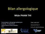 Bilan allergologique - Société pédiatrique de pneumologie et d ...