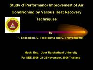 Study of Performance Improvement of Air Conditioning using ...