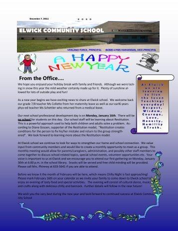 January 2012 Newsletter - Seven Oaks School Division