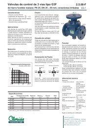 Válvulas de control de 3 vías tipo G3F, de hierro ... - Clorius Controls