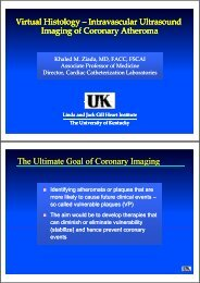 The Ultimate Goal of Coronary Imaging y g g y g g
