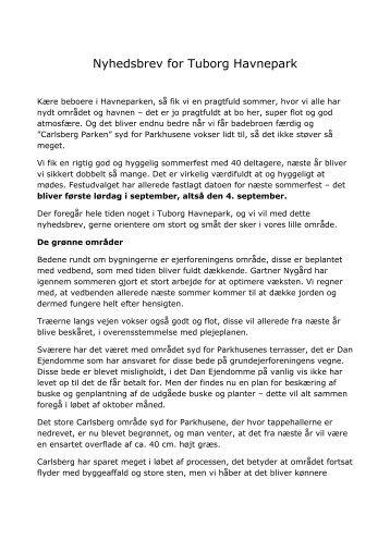 Nyhedsbrev for Tuborg Havnepark - Tuborg Havnepark - C