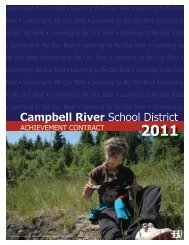 2011-2012 SD72 Achievement Contract - Campbell River School ...