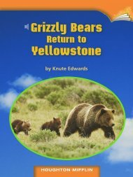 Lesson 10:Grizzly Bears Return to Yellowstone