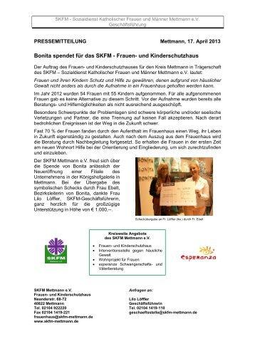 Pressemitteilung - SKFM Mettmann eV